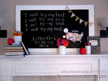 15+ Creative Back to School Mantels