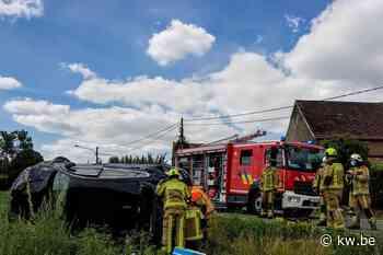 Verkeersongeval met vluchtmisdrijf op Tiegemberg
