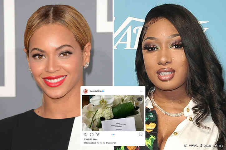 Beyonce sends flowers to friend Megan Thee Stallion after rapper was shot in the foot during SUV fight with Tory Lanez