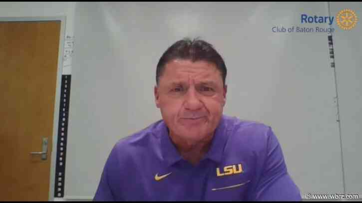 2 members of LSU football team currently recovering from coronavirus, Coach O says