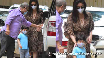 Kareena Kapoor Khan gets papped in animal print dress as she steps out with son Taimur amid COVID-19 pandemic