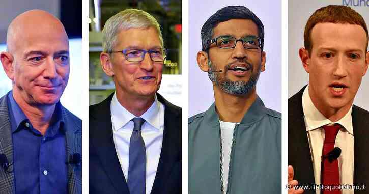 """L'emozione di Bezos e il patriottismo di Zuckerberg, il Congresso """"processa"""" i Big Tech (ci sono anche Tim Cook e Sundar Pichai)"""