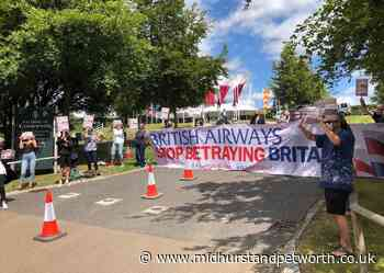 British Airways protest held outside Goodwood - Midhurst and Petworth Observer