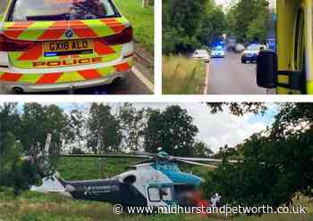 Motorcyclist seriously injured in A272 collision with deer - Midhurst and Petworth Observer