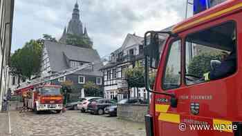 Brilon: Großeinsatz für die Feuerwehr in der Strackestraße - Westfalenpost