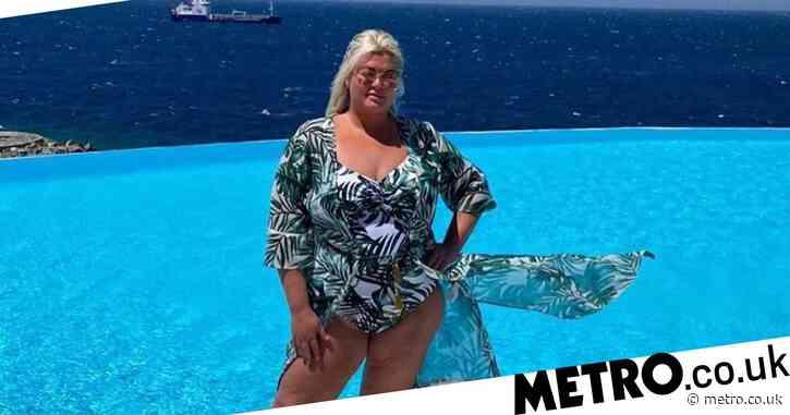 Gemma Collins serves up 'good vibes' as she poses poolside on idyllic Mykonos break