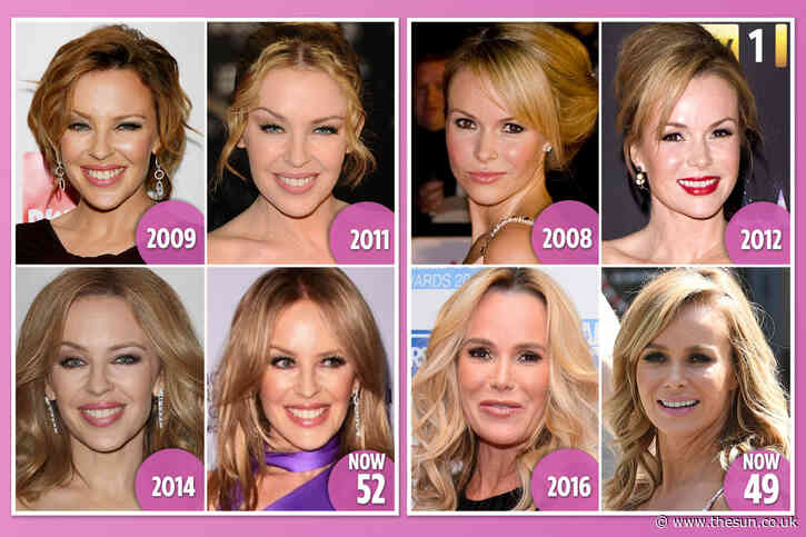 From Kylie Minogue to Amanda Holden, these age-defying celebs are blessed with Peter Pan looks