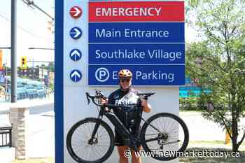 East Gwillimbury man cycling to Quebec to raise money for Southlake - NewmarketToday.ca