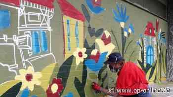 Graffiti-Kunst in Maintal: Künstler verschönern Wasserübergabewerk - op-online.de