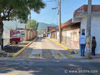 Pavimentó SCOP vialidad en Naranja de Tapia, Zacapu - Altorre