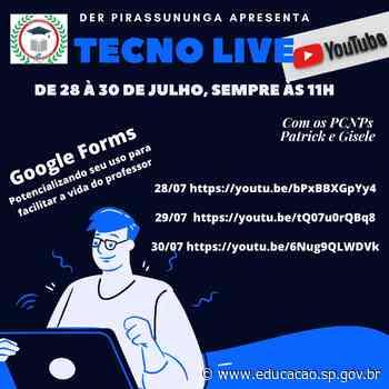 Diretoria de Ensino de Pirassununga promove Tecno Live para auxiliar professores - Secretaria da Educação do Estado de São Paulo