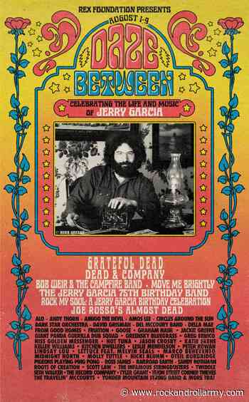 Jerry Garcia será objeto de un homenaje por streaming de 9 días: Daze Between - Rock And Roll Army Magazine