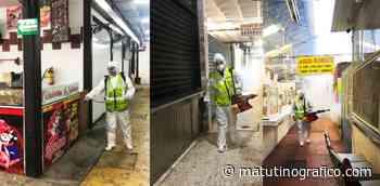 Realizan bomberos municipales esterilización de mercados en Tepic - Matutino Grafico