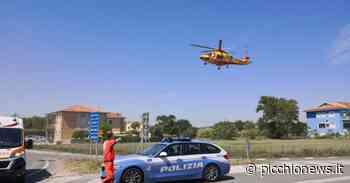 Porto Recanati, incidente lungo la Regina: motociclista soccorso in eliambulanza - Picchio News
