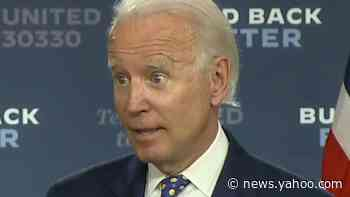 Biden says economic plan could put him as 'most progressive president in American history'