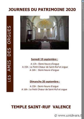 Orgue Temple Saint-Ruf samedi 19 septembre 2020 - Unidivers