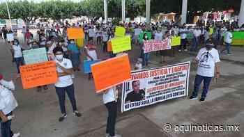 Realizan manifestación en Acala para pedir liberación de médico del Isstech - Aquí Noticias