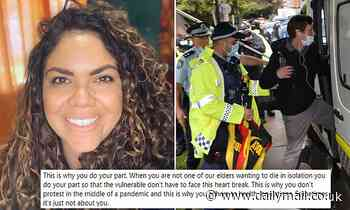 Indigenous Alice Springs town councillor Jacinta Price slams Black Lives Matter for COVID-19 protest - Daily Mail