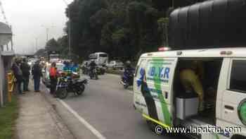 Accidentes de tránsito se presentaron esta mañana en Manizales y Villamaría - La Patria.com
