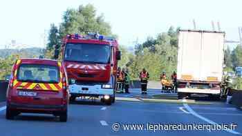 Circulation : Loon-Plage : incendie du bloc-moteur d'un poids lourd sur la N316 - Le Phare dunkerquois