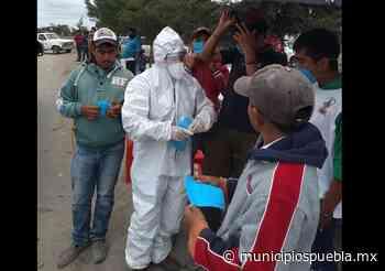 Ciudadanos promueven uso de cubrebocas en Tecamachalco - Municipios Puebla