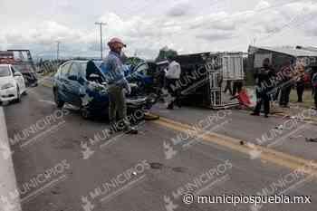 Saldo de 3 lesionados deja aparatoso accidente en Tecamachalco - Municipios Puebla