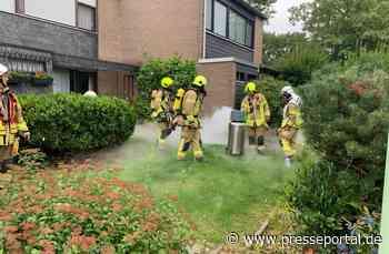 FW Ratingen: Gasausströmung - Ratingen West, Goldregenweg, 27.07.2020 - Presseportal.de