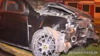 Conductor abandona su vehículo tras sufrir aparatoso accidente en Bellavista | Panamericana TV - Panamericana Televisión