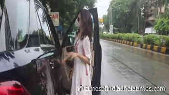 Taapsee Pannu looks pretty in white as she gets papped post a salon session