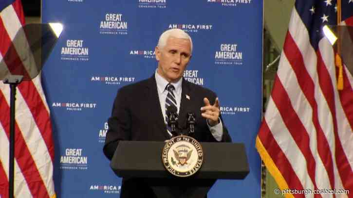Vice President Mike Pence's Campaign Bus Involved In Minor Crash With Dump Truck