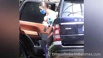 Bollywood celebrities spotted resuming work at various studios, while wearing masks