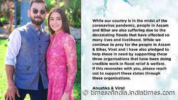Anushka Sharma and Virat Kohli donate for Bihar and Assam floods relief fund