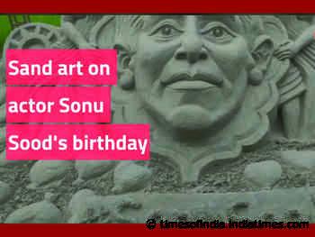 Sand art on actor Sonu Sood's birthday
