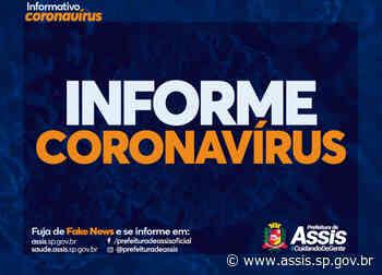 Assis tem 613 pacientes com COVID-19 e mais um óbito confirmado - Prefeitura de Assis