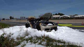 B42 bei Weiterstadt: Porsche geht in Flammen auf - Luxusauto wird komplett zerstört - op-online.de