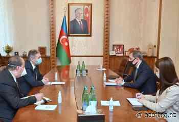 Canciller de Azerbaiyán se reúne con el embajador de Palestina - AZERTAC Espanol