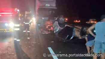 Veículo com placas de Umuarama se envolve em grave acidente na PR-317 - ® Portal da Cidade   Umuarama
