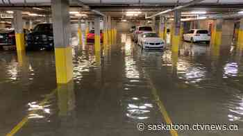 Water from busted water main floods Saskatoon condo parkade