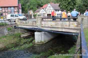 Brückenbau Der Mittel-Stützpfeiler muss weg - Volksstimme