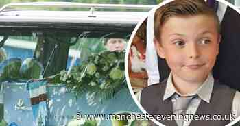 Silence fell as a boy returned to his school for the final time - RIP, Jack