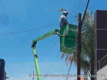 Brindan mantenimiento permanente a luminarias en Mixquiahuala - Independiente de Hidalgo