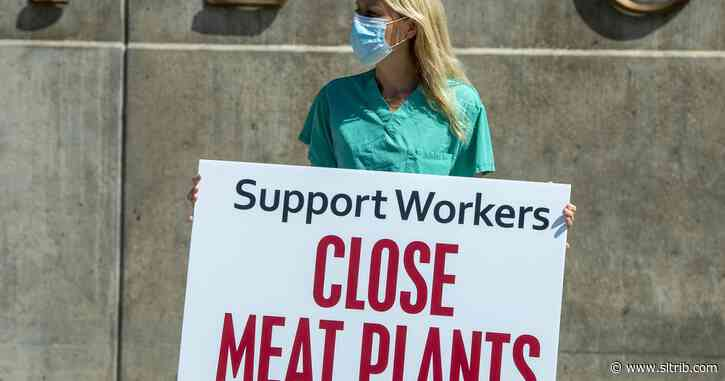 Protesters ask Utah governor to close meatpacking plants