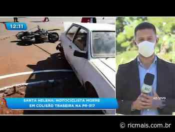 Santa Helena Motociclista morre em colisão traseira na PR-317 - RIC Mais