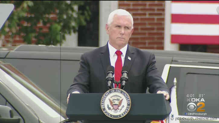 Vice President Pence Spreads Message of 'Law And Order' During Visit To Greensburg