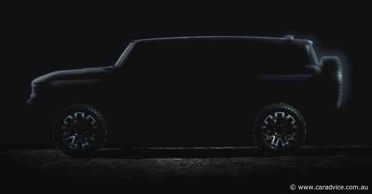 Electric Hummer teased by General Motors