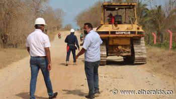 Garantizan recursos para pavimentar la vía Santa Lucía - Moñitos - EL HERALDO