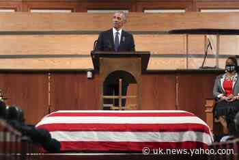 Barack Obama hails 'unbreakable perseverance' of civil rights campaigner John Lewis at funeral
