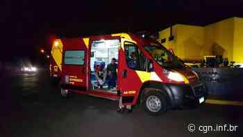 Jovem fica ferido em acidente entre carro e moto na Rua Jacarezinho - CGN