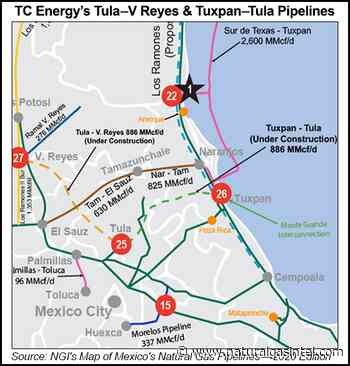 TC Energy Pushes Back Tula-Villa de Reyes In-Service Date to 2021 - Natural Gas Intelligence