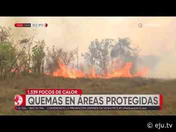 Continúa el incendio en Otuquis y San Matías, ya ardieron más de 60 mil hectáreas de pastizales - eju.tv